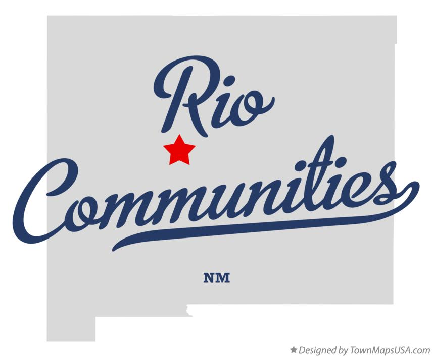 Map of Rio Communities New Mexico NM