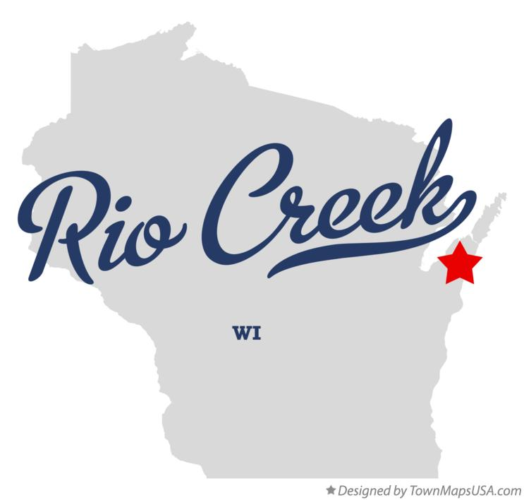 Map of Rio Creek Wisconsin WI