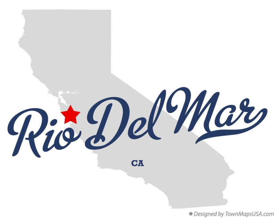 Map of Rio Del Mar California CA