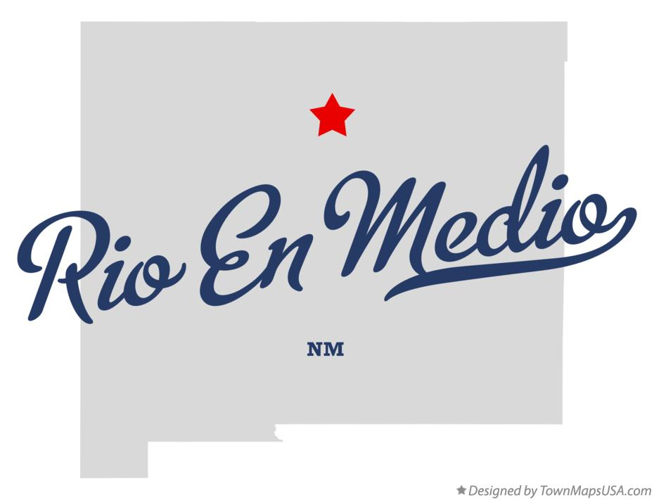 Map of Rio En Medio New Mexico NM