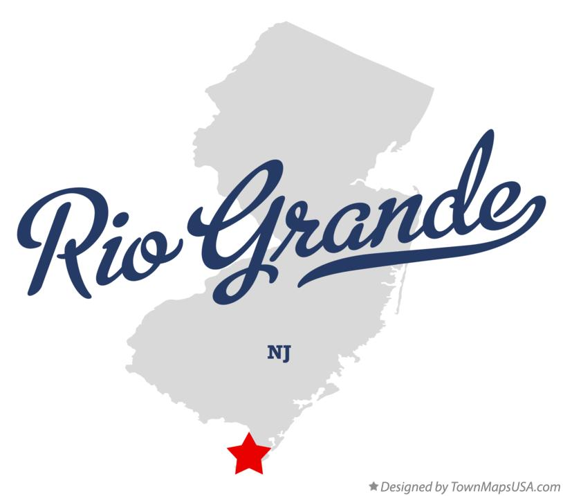 Map of Rio Grande New Jersey NJ