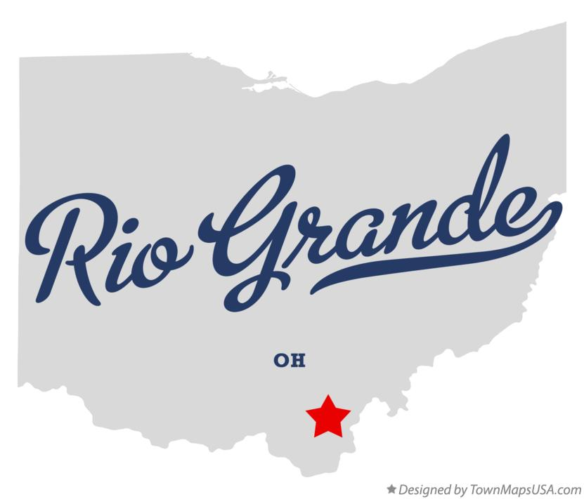 Map of Rio Grande Ohio OH