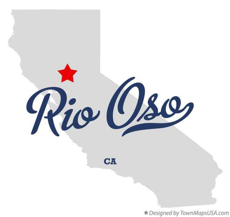 Map of Rio Oso California CA