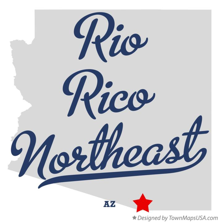 Map of Rio Rico Northeast Arizona AZ