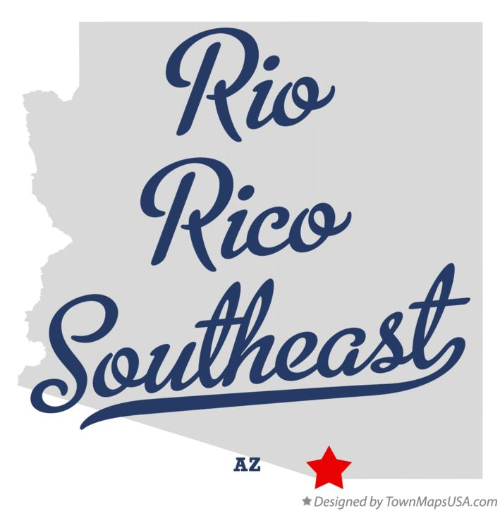 Map of Rio Rico Southeast Arizona AZ