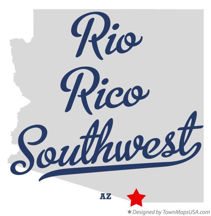 Map Of Rio Rico Southwest Az Arizona