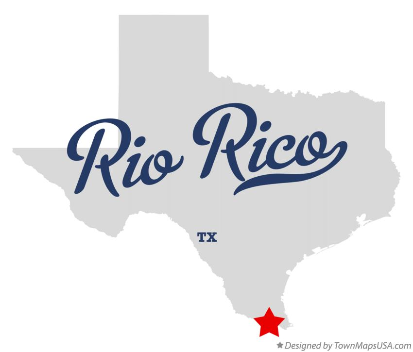 Map of Rio Rico Texas TX