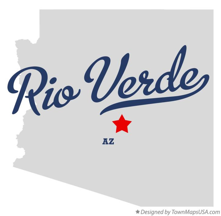 Map of Rio Verde Arizona AZ
