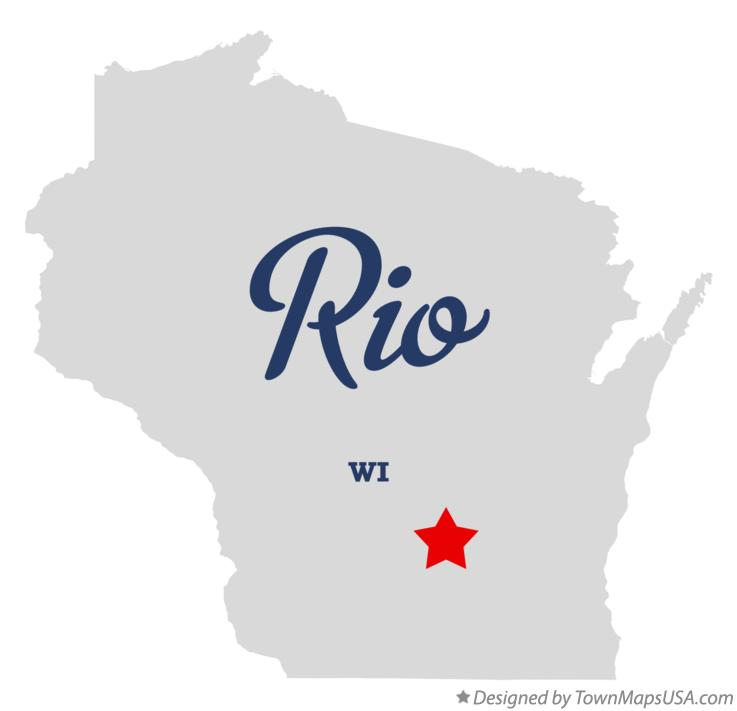 Map of Rio Wisconsin WI
