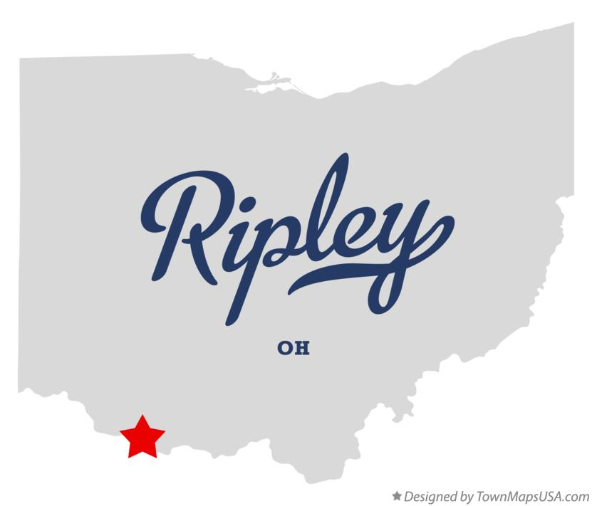 Map of Ripley Ohio OH
