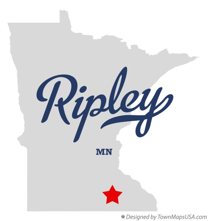 Map of Ripley Minnesota MN