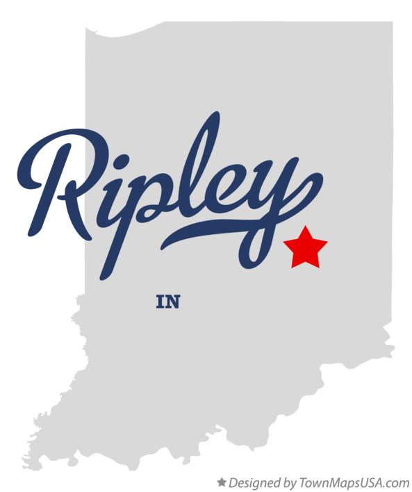 Map of Ripley Indiana IN