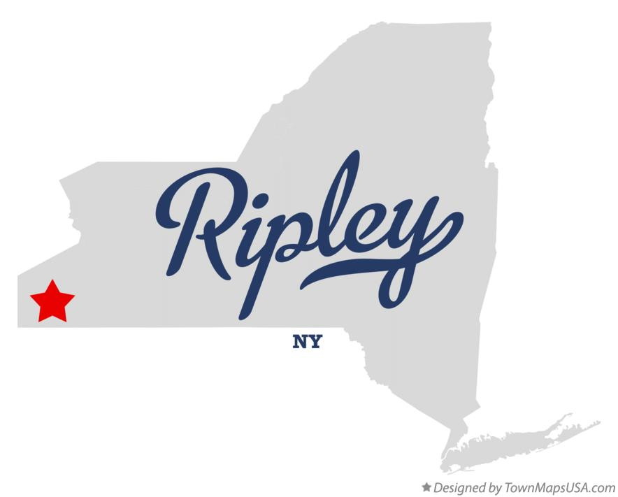 Map of Ripley New York NY