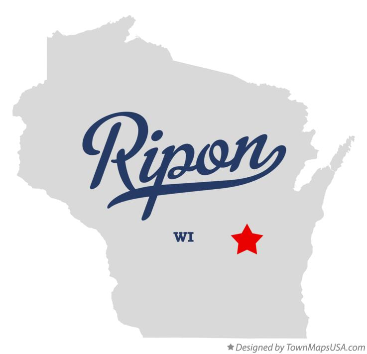 Map of Ripon, WI, Wisconsin Map Of Rilon on