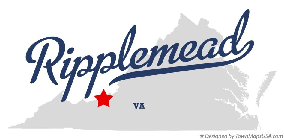 Map of Ripplemead Virginia VA