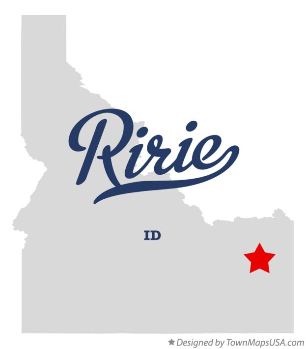 Map of Ririe Idaho ID