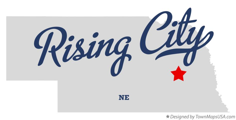 Map of Rising City Nebraska NE