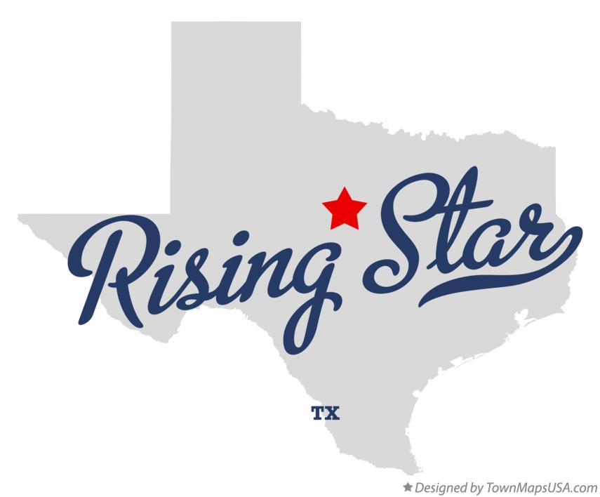 Map of Rising Star Texas TX