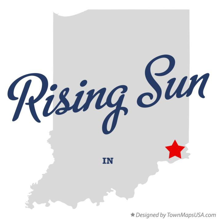 Map of Rising Sun Indiana IN