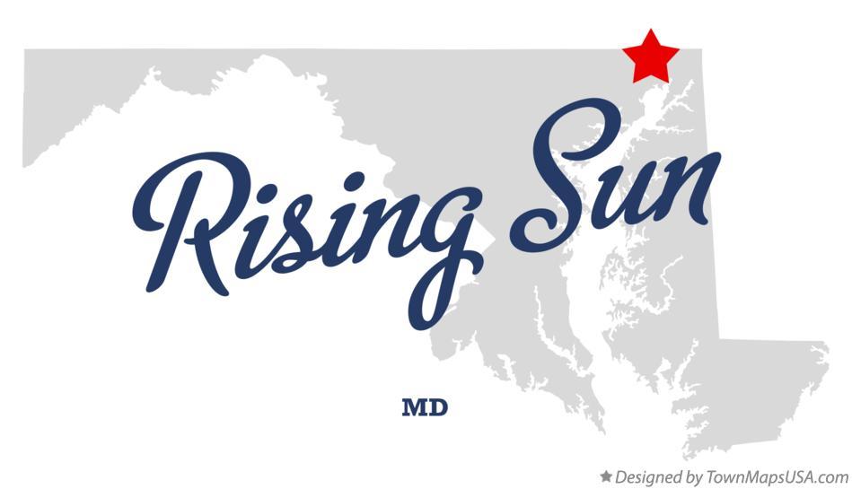 Map of Rising Sun Maryland MD