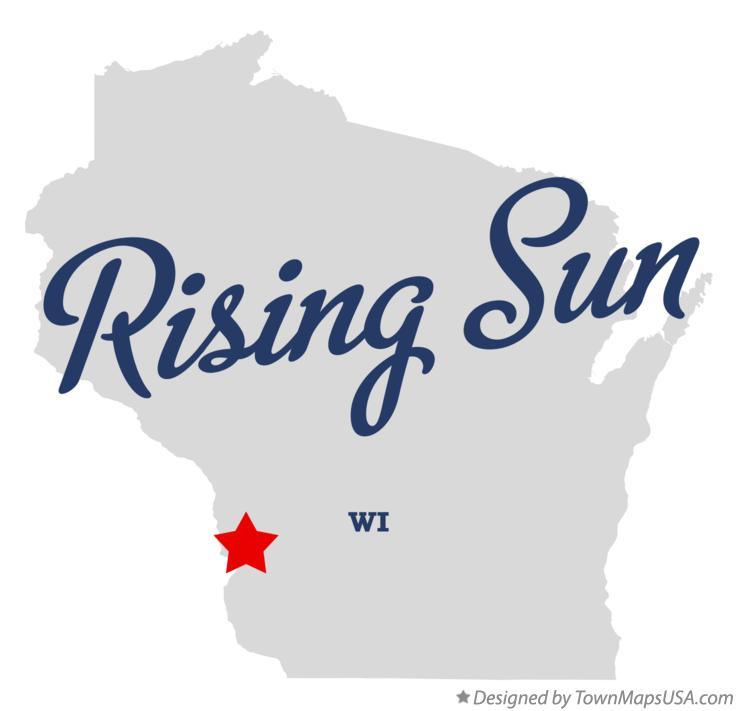 Map of Rising Sun Wisconsin WI