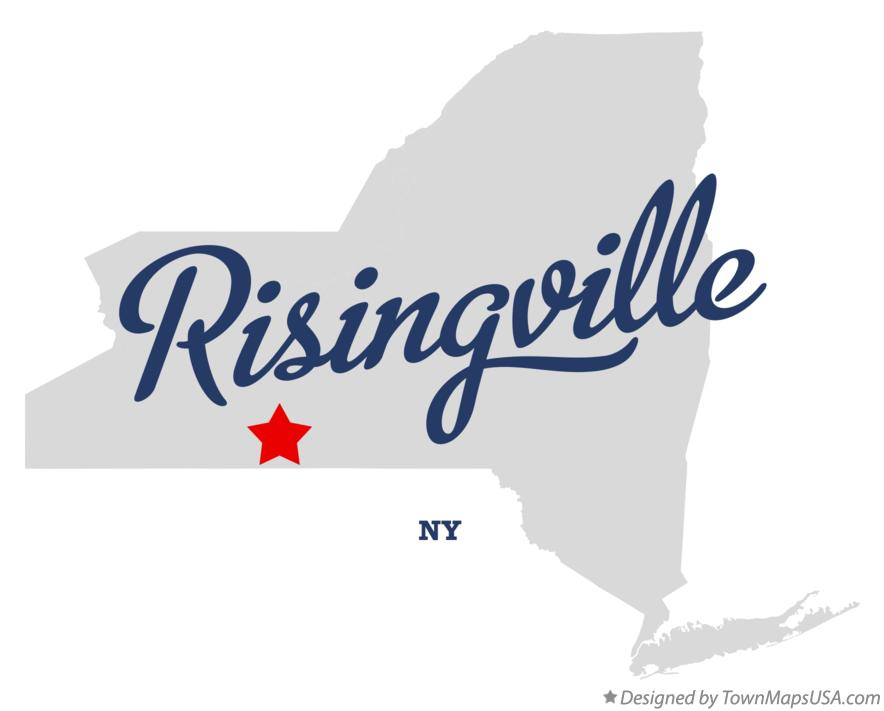 Map of Risingville New York NY