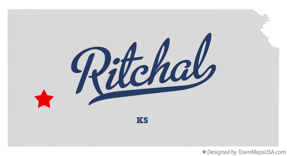 Map of Ritchal Kansas KS