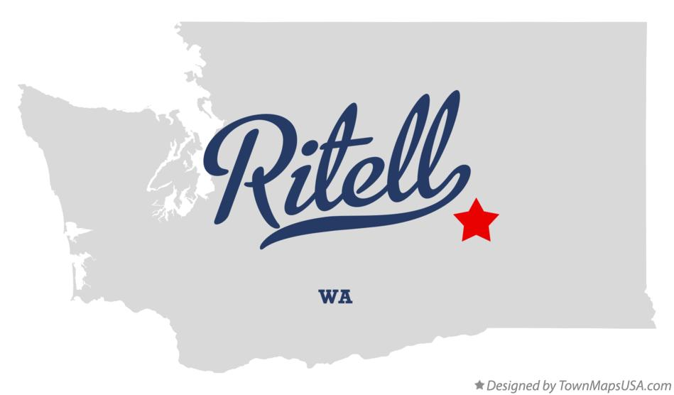 Map of Ritell Washington WA