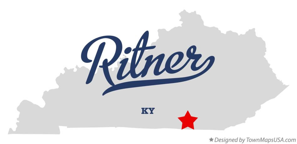 Map of Ritner Kentucky KY