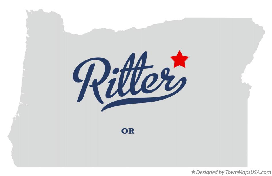 Map of Ritter Oregon OR