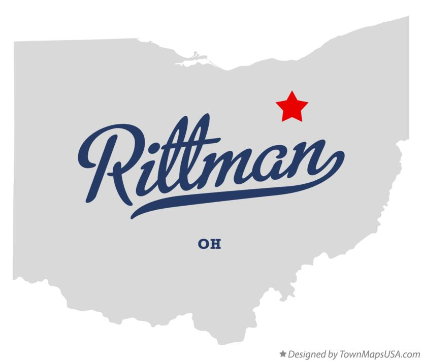 Map of Rittman Ohio OH