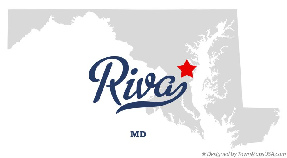 Map of Riva Maryland MD