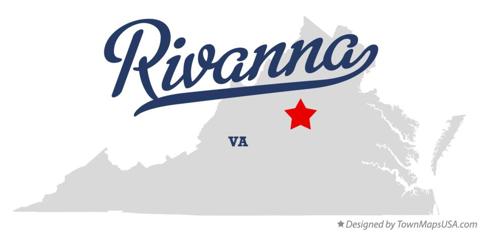 Map of Rivanna Virginia VA