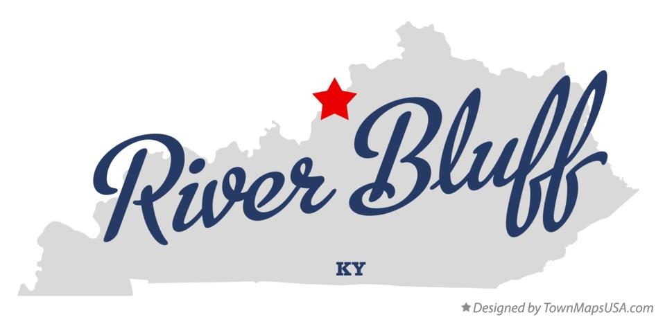 Map of River Bluff Kentucky KY