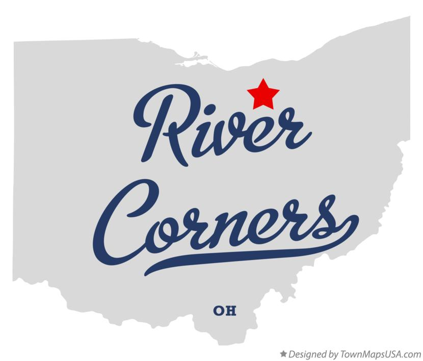 Map of River Corners Ohio OH
