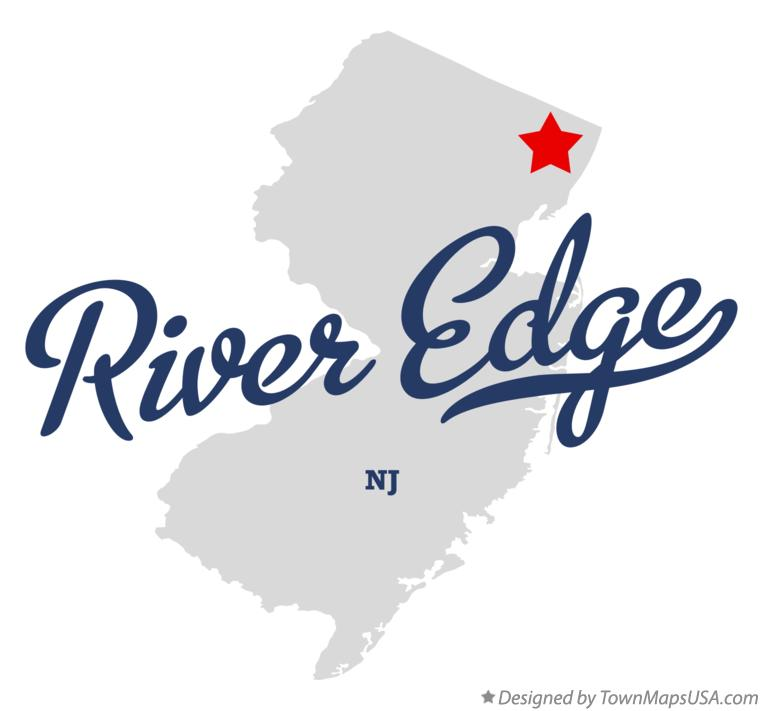 Map of River Edge New Jersey NJ