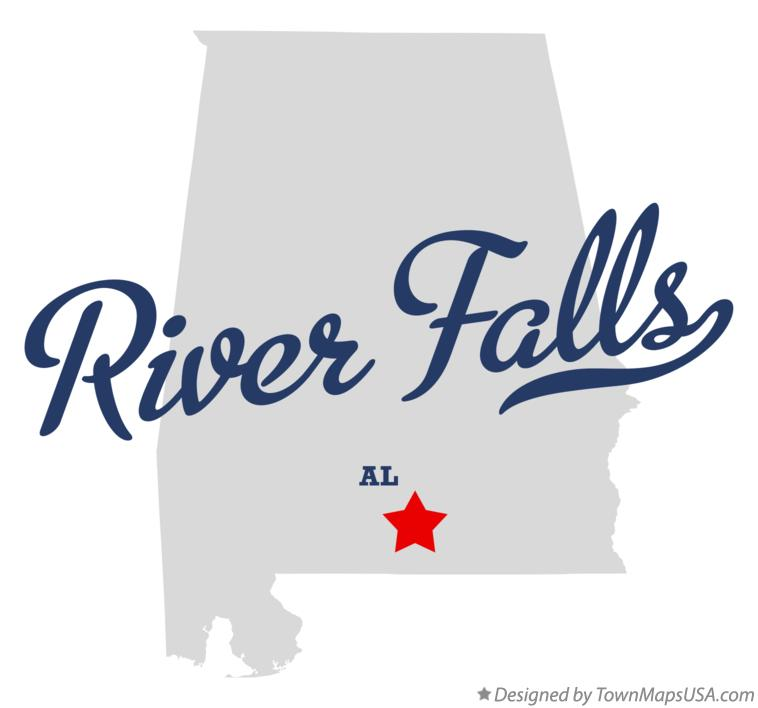 Map of River Falls Alabama AL