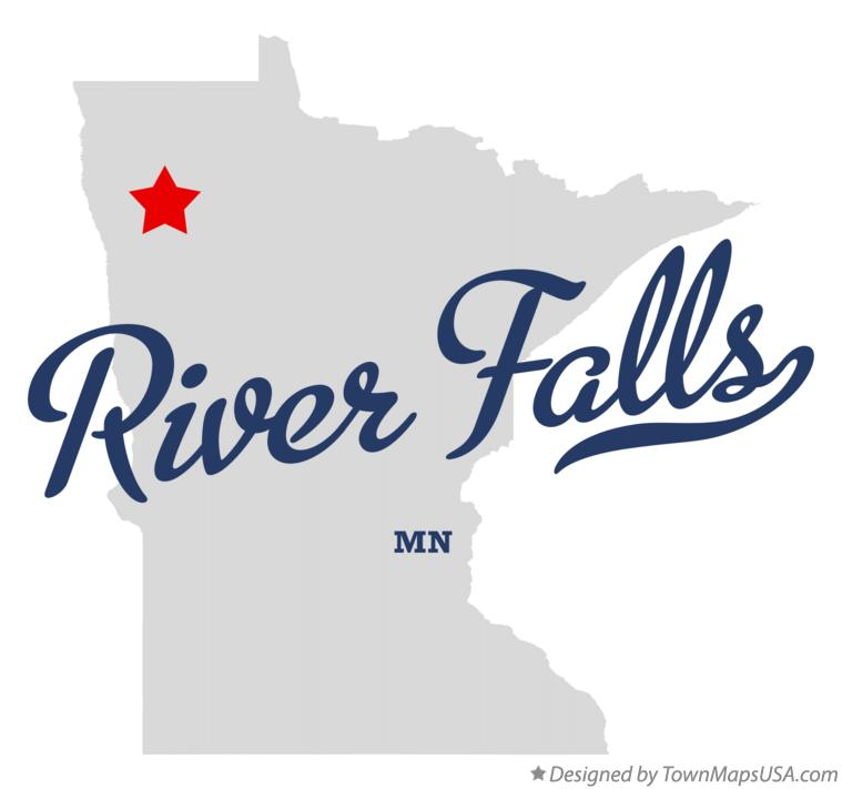 Map of River Falls Minnesota MN