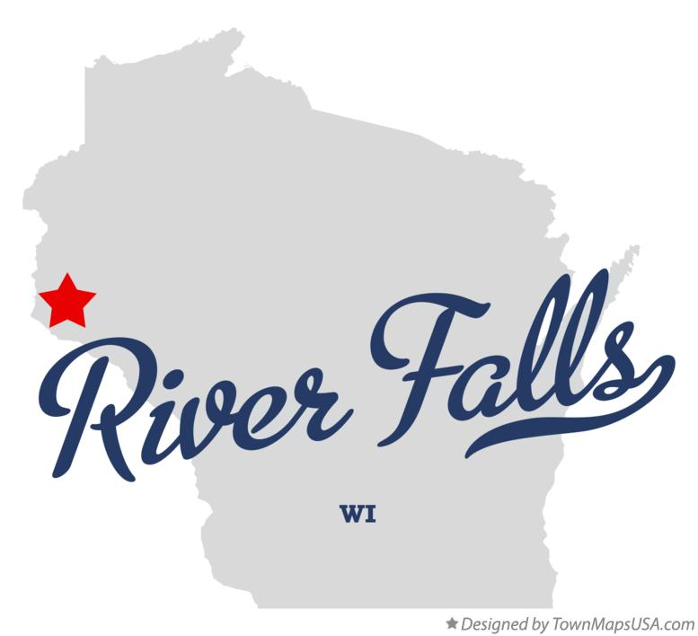Map of River Falls Wisconsin WI