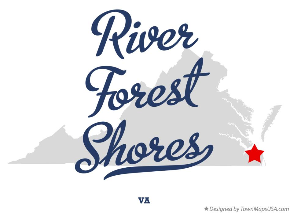 Map of River Forest Shores Virginia VA