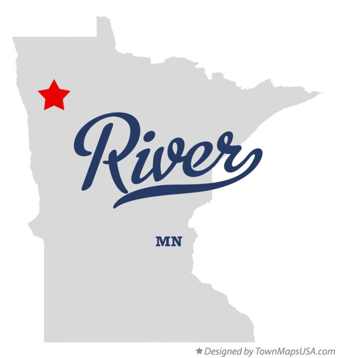 Map of River Minnesota MN