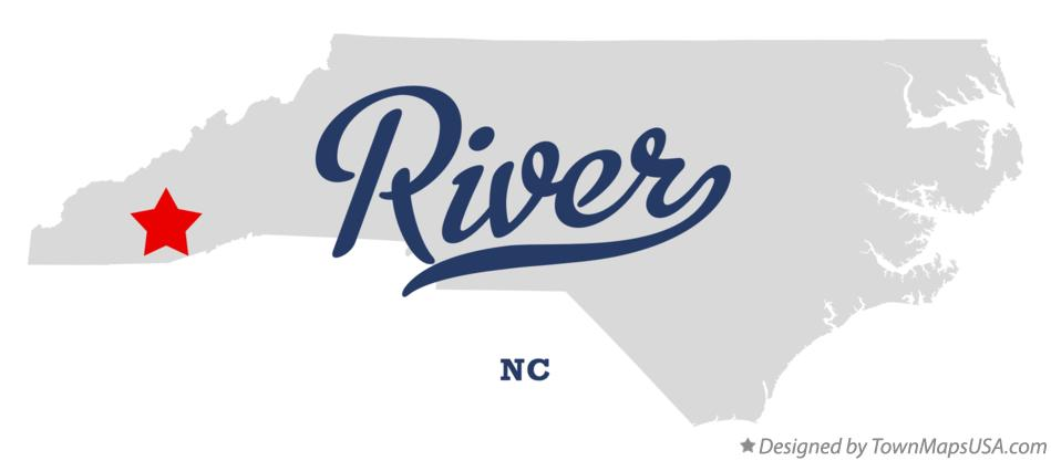 Map of River North Carolina NC
