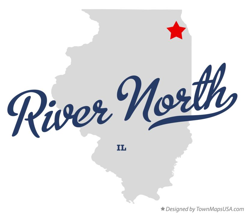 Map of River North Illinois IL