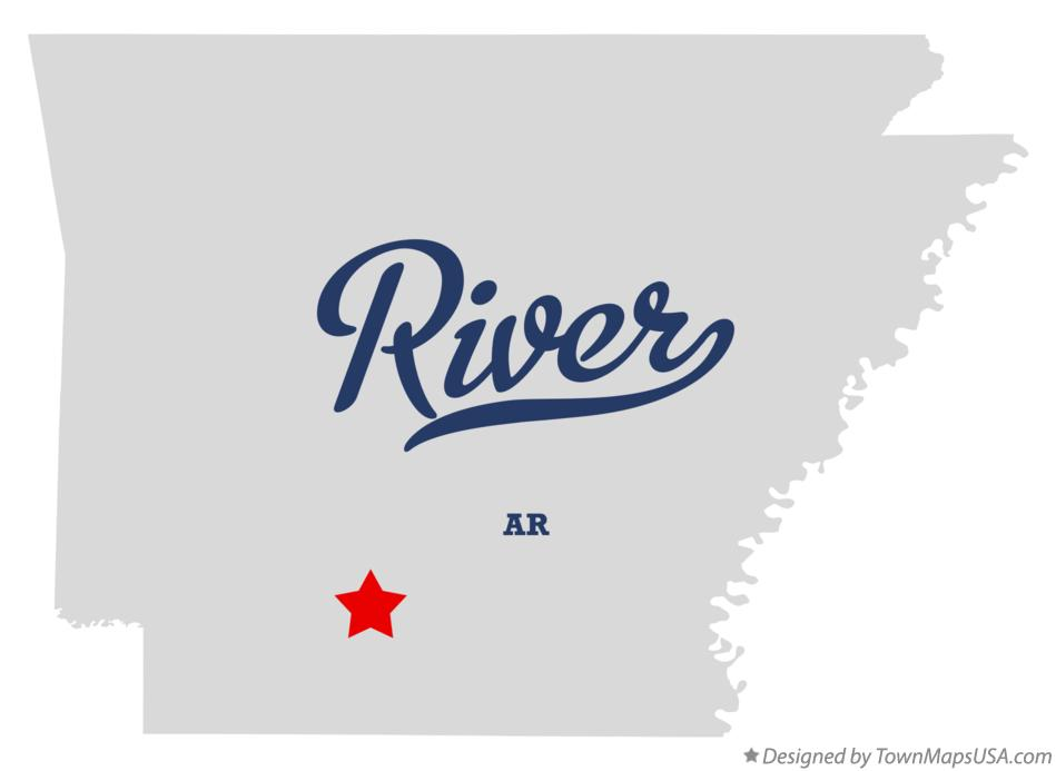 Map of River Arkansas AR