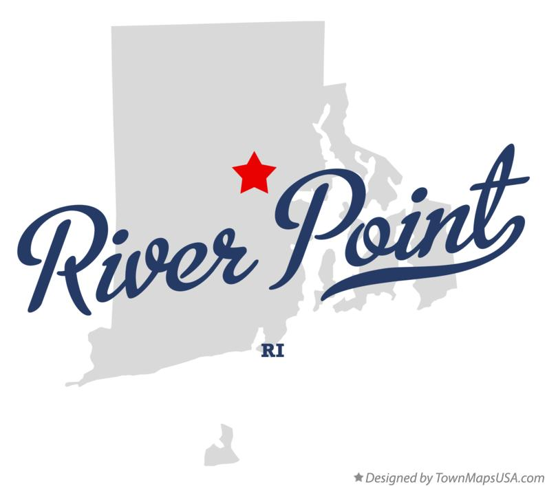 Map of River Point Rhode Island RI