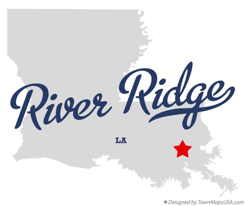 Map of River Ridge Louisiana LA