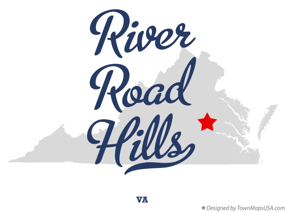 Map of River Road Hills Virginia VA