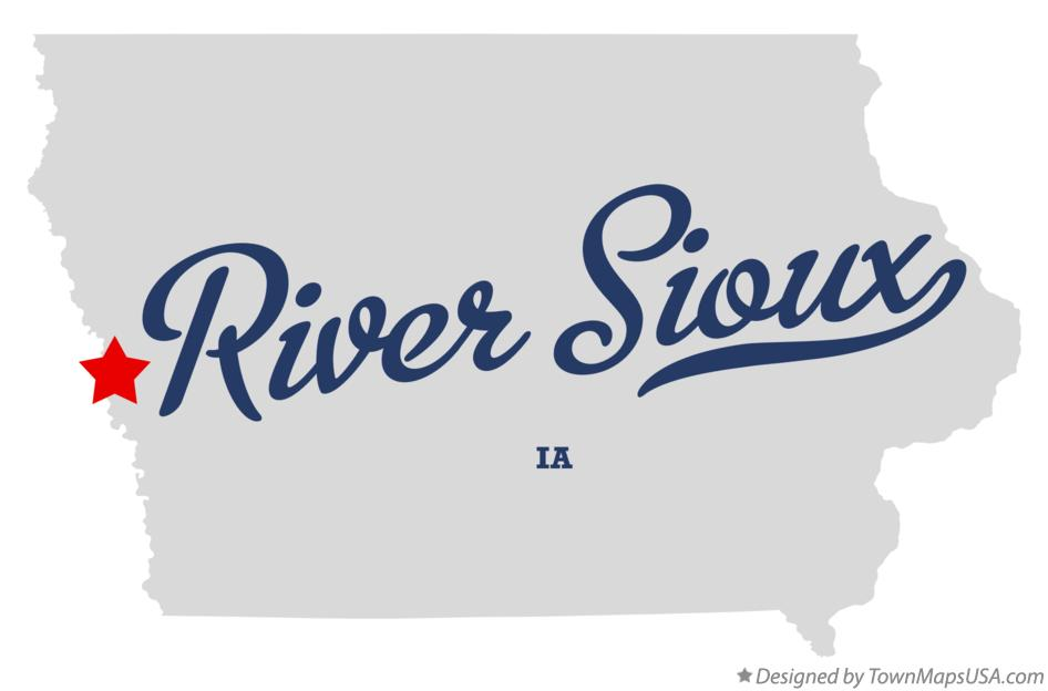 Map of River Sioux Iowa IA
