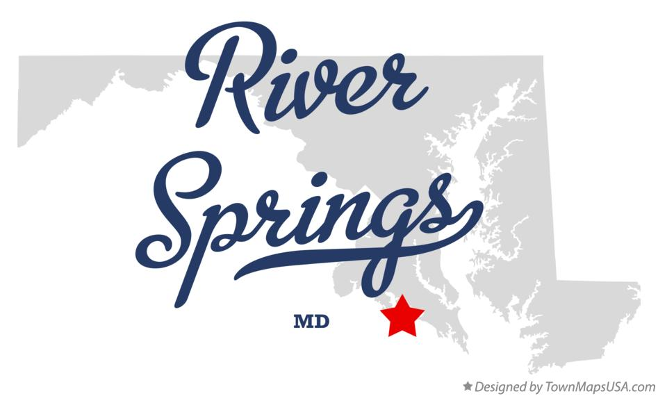 Map of River Springs Maryland MD