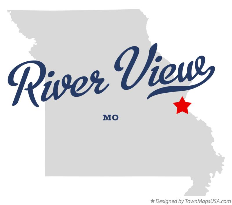 Map of River View Missouri MO